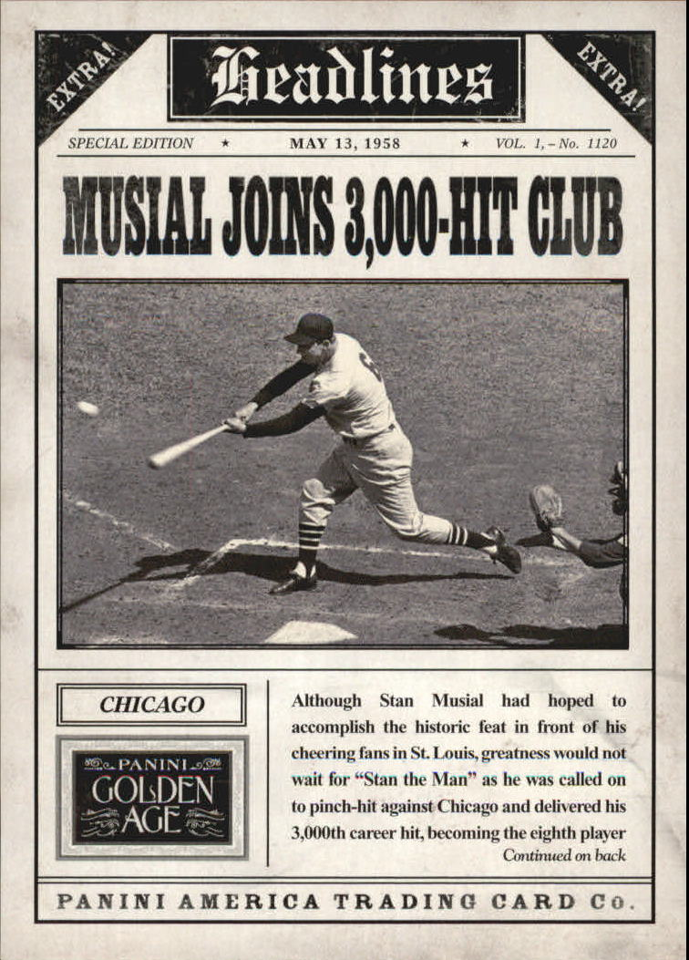 2013 Panini Golden Age Headlines #6 Stan Musial