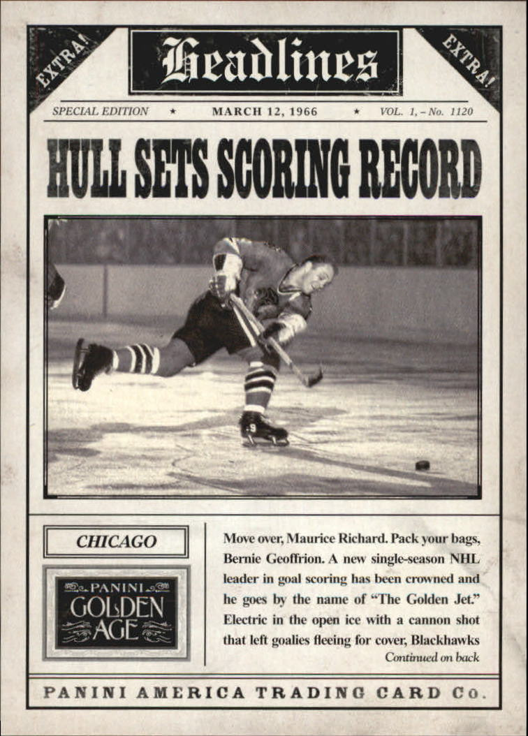 2013 Panini Golden Age Headlines #14 Bobby Hull