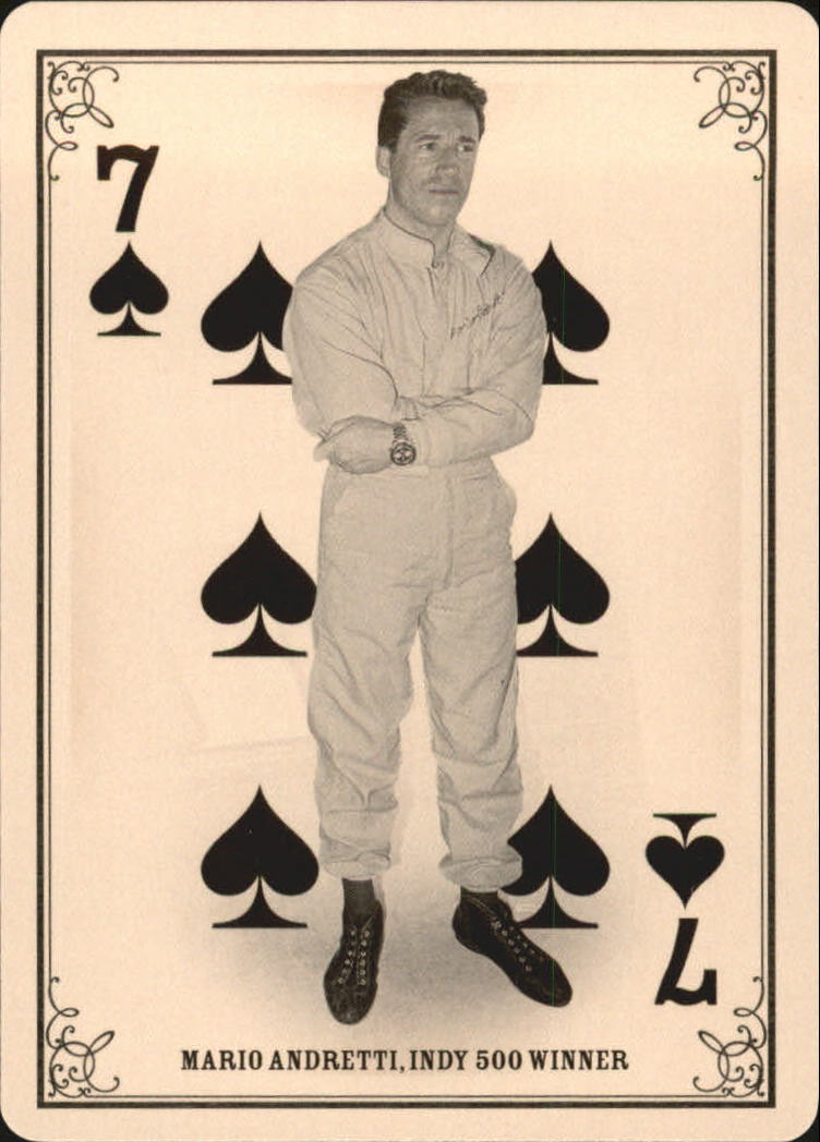 2013 Panini Golden Age Playing Cards #1 Mario Andretti back image