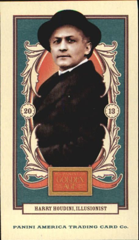 2013 Panini Golden Age Mini American Caramel Blue Back #25 Harry Houdini