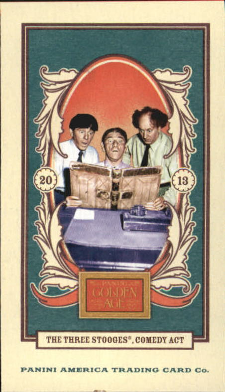 2013 Panini Golden Age Mini American Caramel Blue Back #41 The Three Stooges