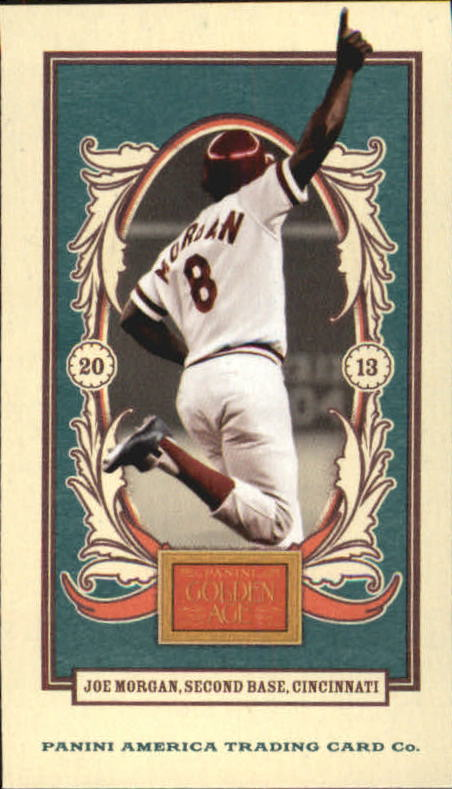 2013 Panini Golden Age Mini American Caramel Blue Back #83 Joe Morgan