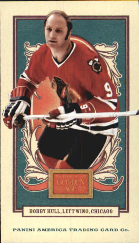 2013 Panini Golden Age Mini American Caramel Blue Back #129 Bobby Hull