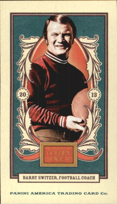 2013 Panini Golden Age Mini American Caramel Blue Back #131 Barry Switzer