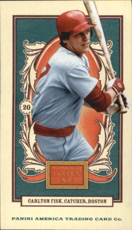 2013 Panini Golden Age Mini American Caramel Blue Back #140 Carlton Fisk