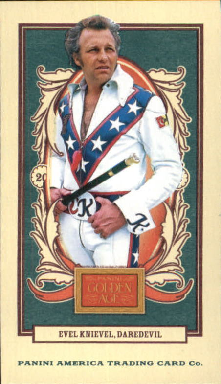 2013 Panini Golden Age Mini American Caramel Red Back #111 Evel Knievel