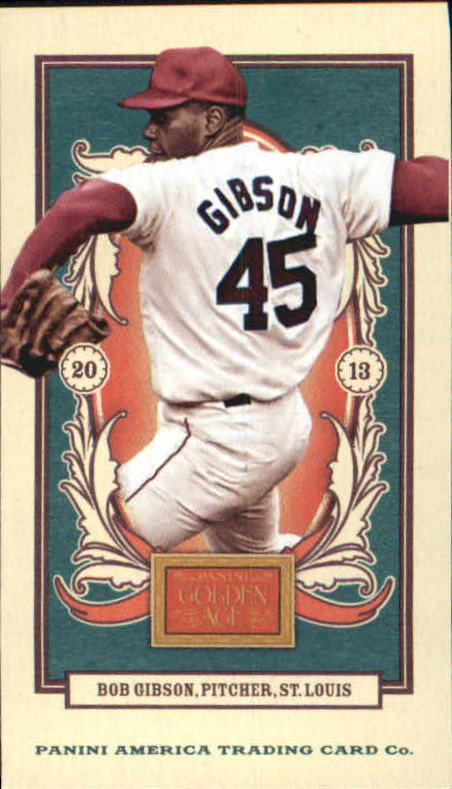 2013 Panini Golden Age Mini Carolina Brights Green Back #99 Bob Gibson