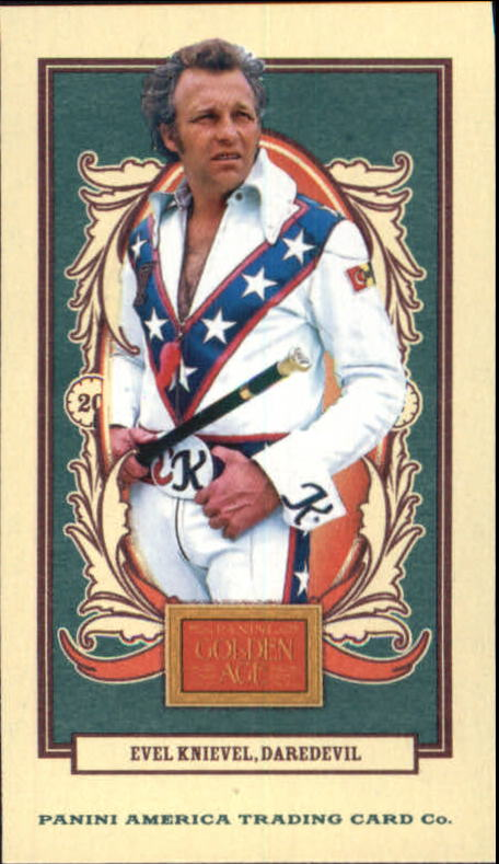 2013 Panini Golden Age Mini Carolina Brights Green Back #111 Evel Knievel