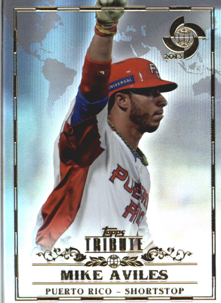 2013 Topps Tribute WBC #4 Mike Aviles