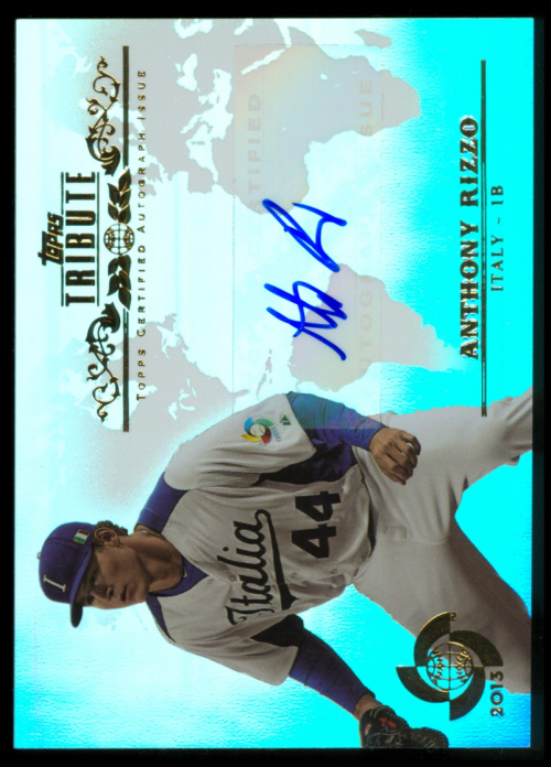 2013 Topps Tribute WBC Autographs #ARI Anthony Rizzo