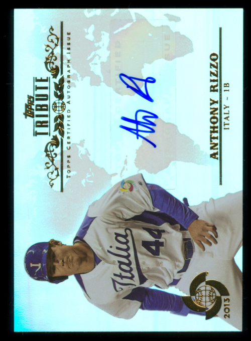 2013 Topps Tribute WBC Autographs #ARI2 Anthony Rizzo
