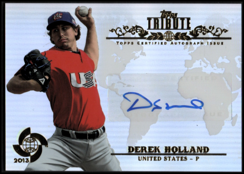 2013 Topps Tribute WBC Autographs #DHO Derek Holland