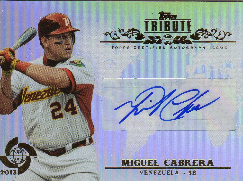 2013 Topps Tribute WBC Autographs #MC Miguel Cabrera