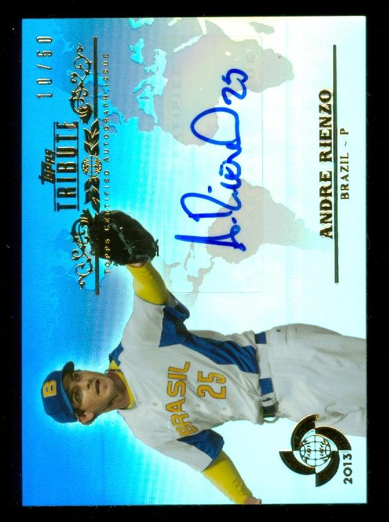 2013 Topps Tribute WBC Autographs Blue #AR Andre Rienzo
