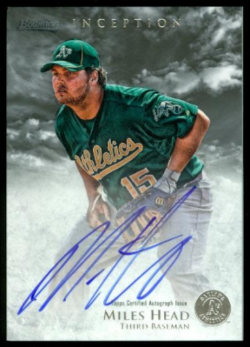 2013 Bowman Inception Prospect Autographs #MH Miles Head