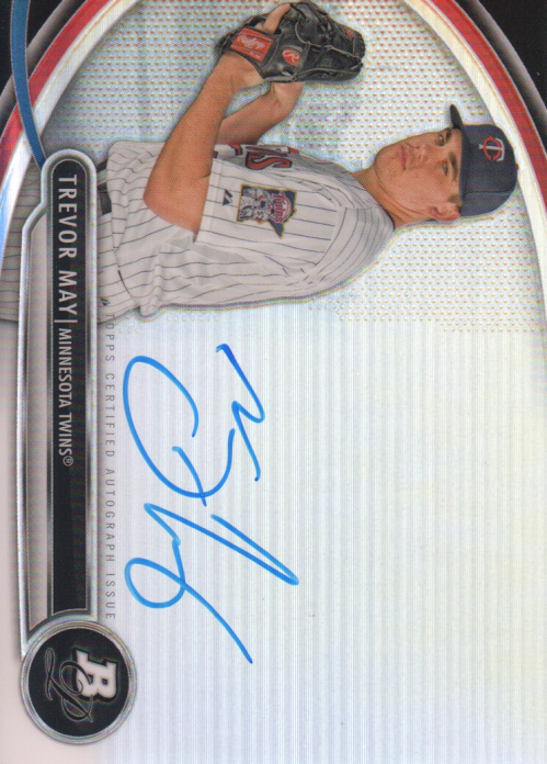 2013 Bowman Platinum Prospect Autographs #TM Trevor May