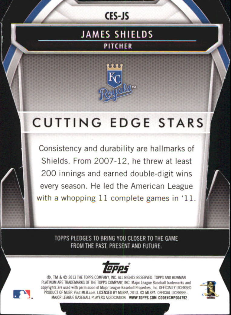 2013 Bowman Platinum Cutting Edge Stars #JS James Shields
