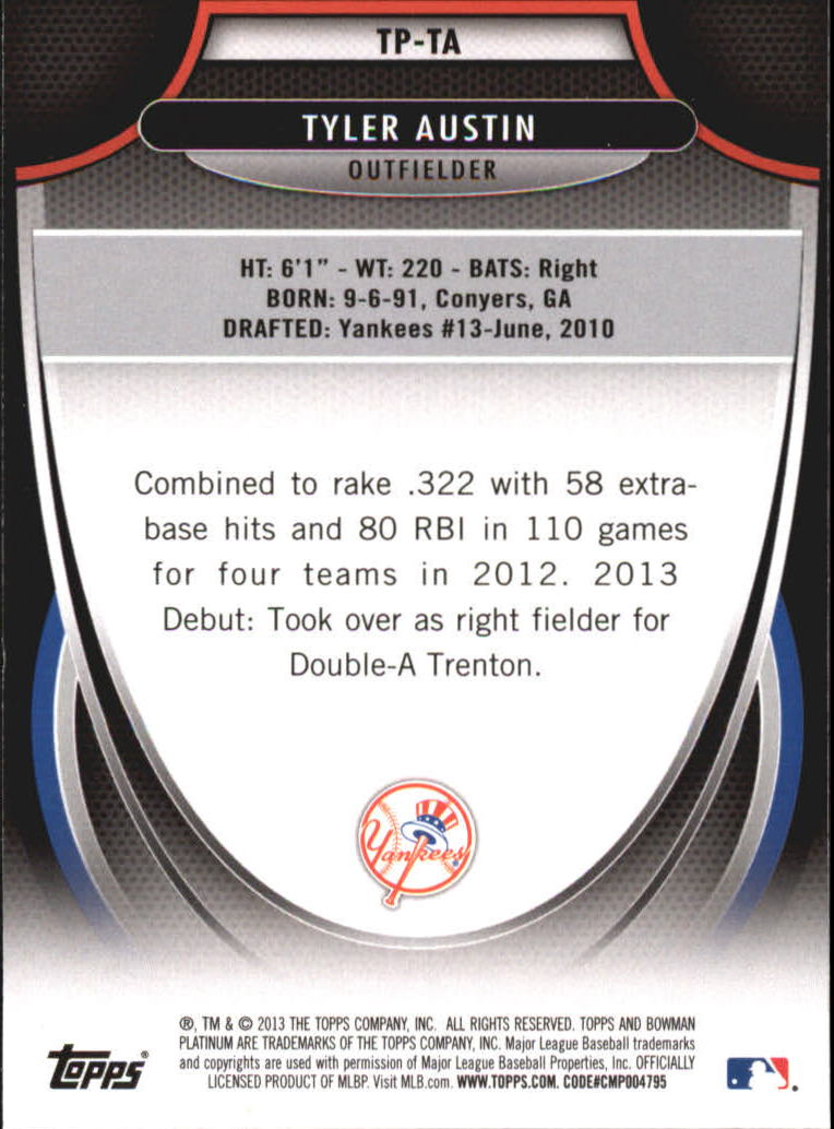 2013 Bowman Platinum Top Prospects #TA Tyler Austin