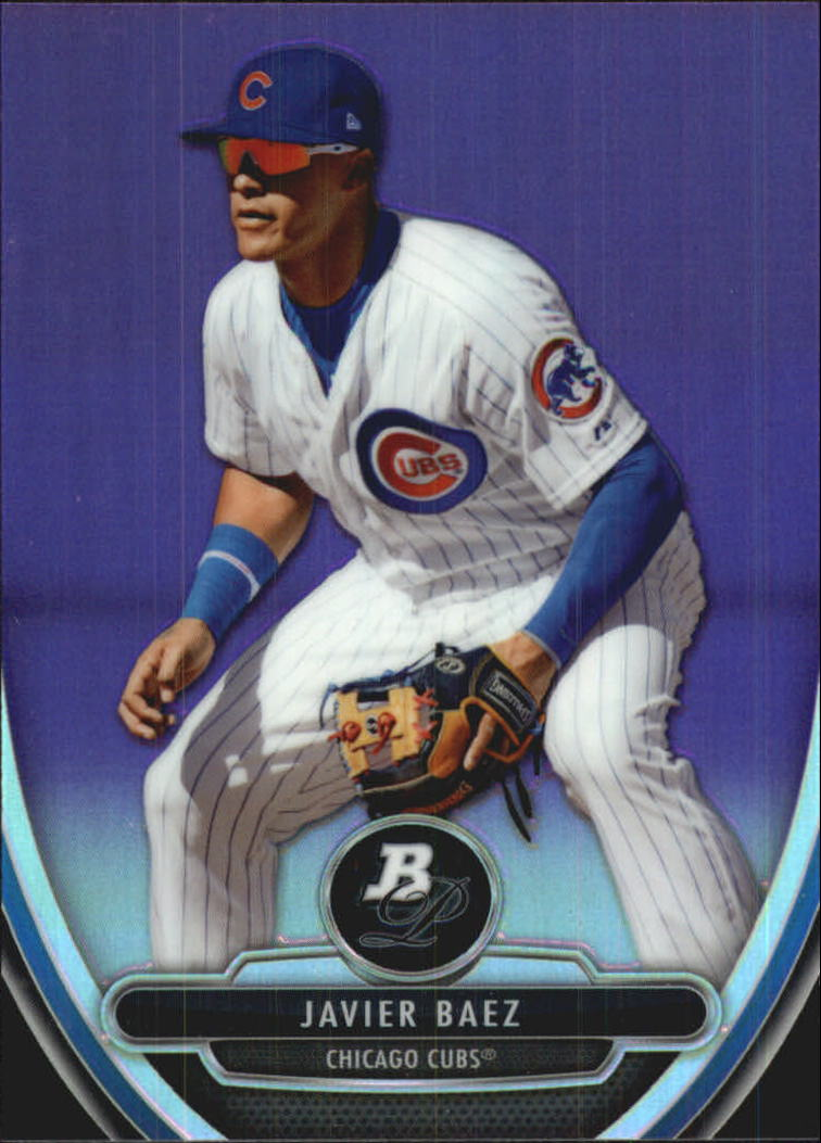 2013 Bowman Platinum Chrome Prospects Purple Refractors #BPCP10 Javier Baez