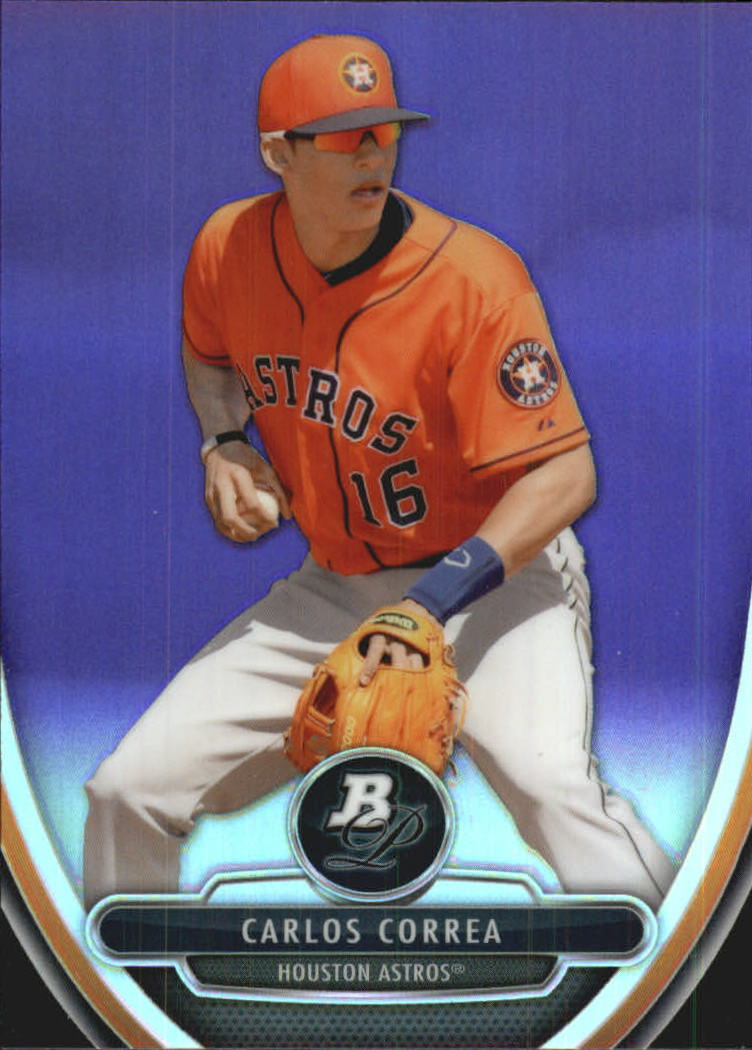 2013 Bowman Platinum Chrome Prospects Purple Refractors #BPCP23 Carlos Correa