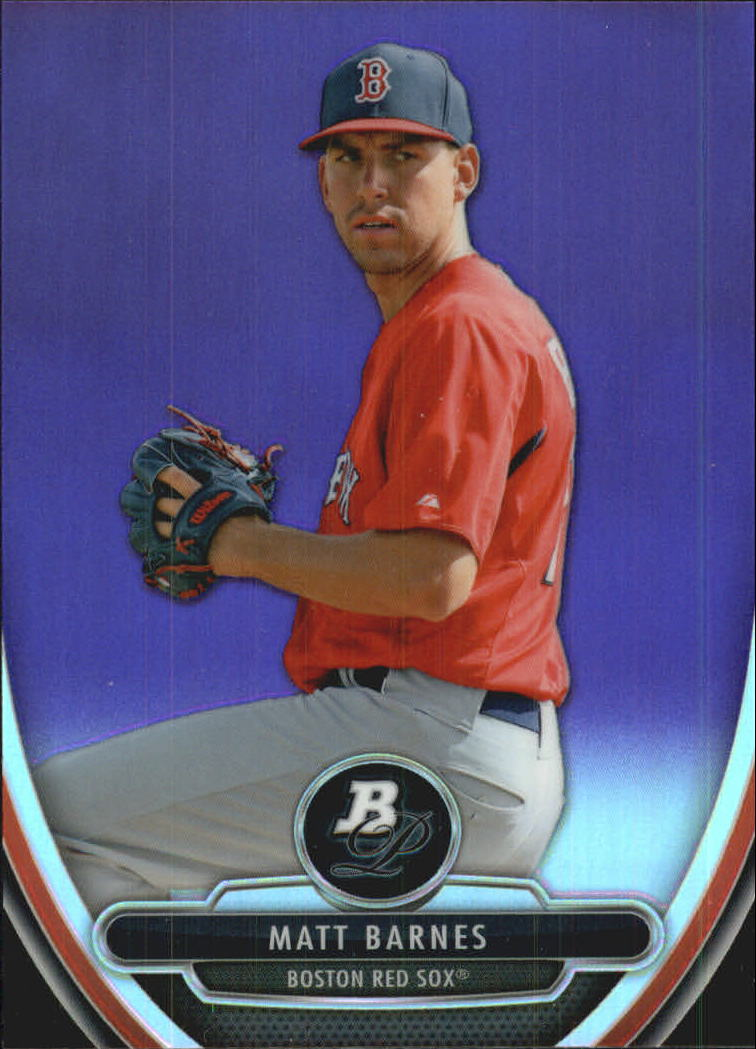 2013 Bowman Platinum Chrome Prospects Purple Refractors #BPCP29 Matt Barnes