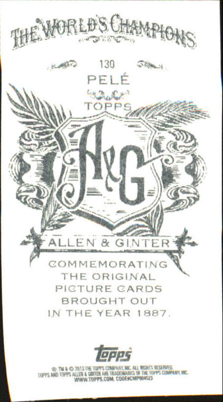 2013 Topps Allen and Ginter Mini A and G Back #130 Pele