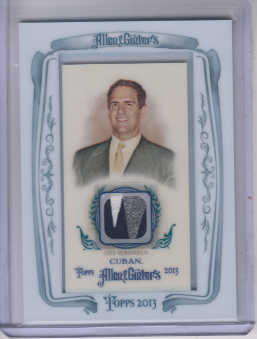 2013 Topps Allen and Ginter Framed Mini Relics #MCU Mark Cuban