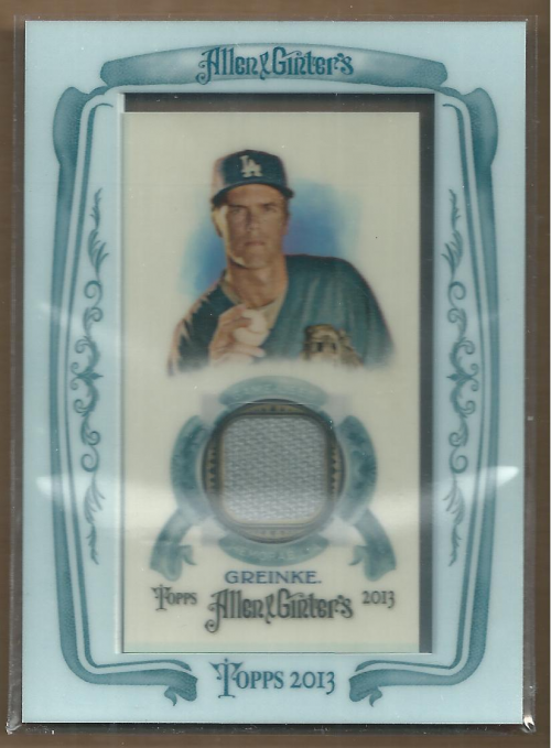 2013 Topps Allen and Ginter Framed Mini Relics #ZG Zack Greinke