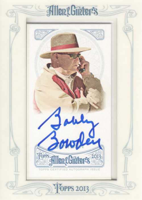 2013 Topps Allen and Ginter Autographs #BB Bobby Bowden