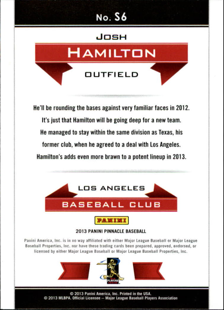 2013 Pinnacle Slugfest #6 Josh Hamilton