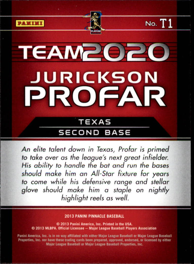 2013 Pinnacle Team 2020 #1 Jurickson Profar