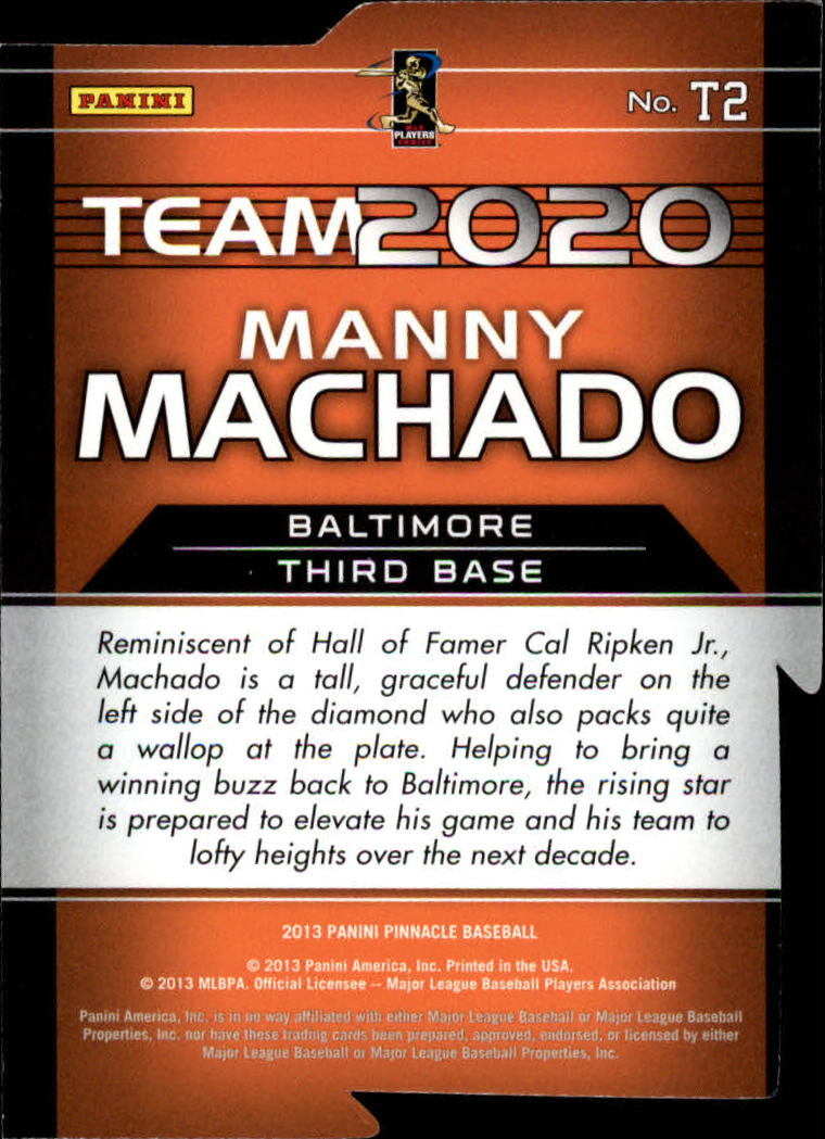 2013 Pinnacle Team 2020 Die-Cuts #2 Manny Machado