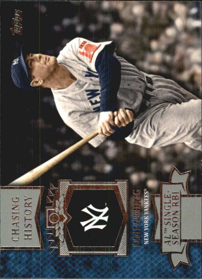2013 Topps Mini Chasing History #MCH13 Lou Gehrig