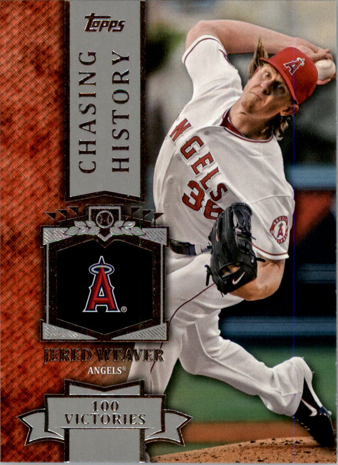 2013 Topps Mini Chasing History #MCH49 Jered Weaver