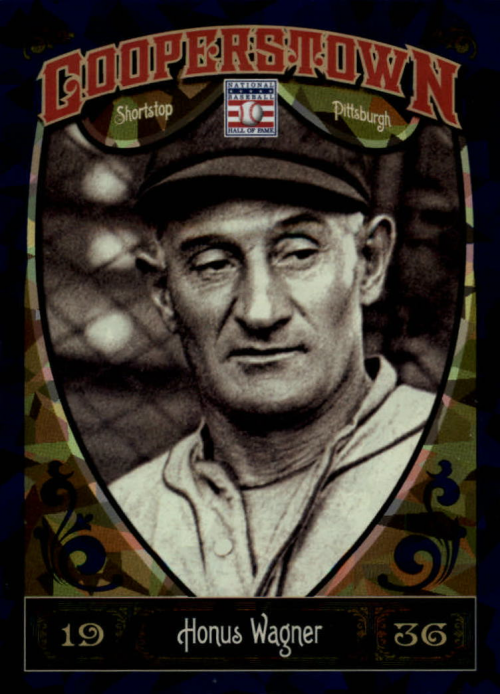 2013 Panini Cooperstown Blue Crystal #14 Honus Wagner