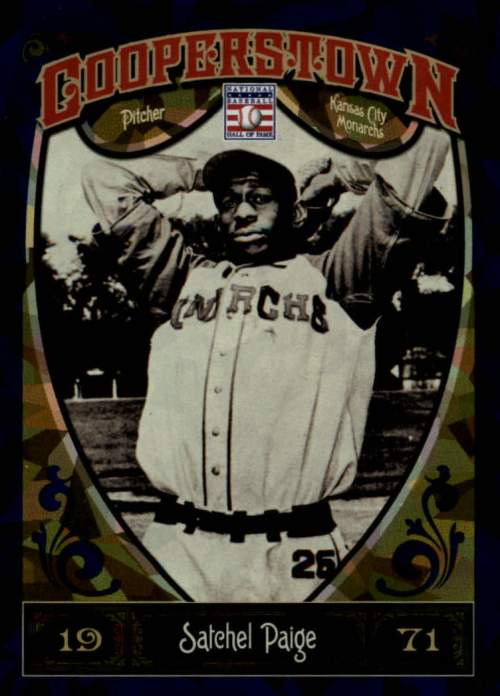 2013 Panini Cooperstown Blue Crystal #17 Satchel Paige