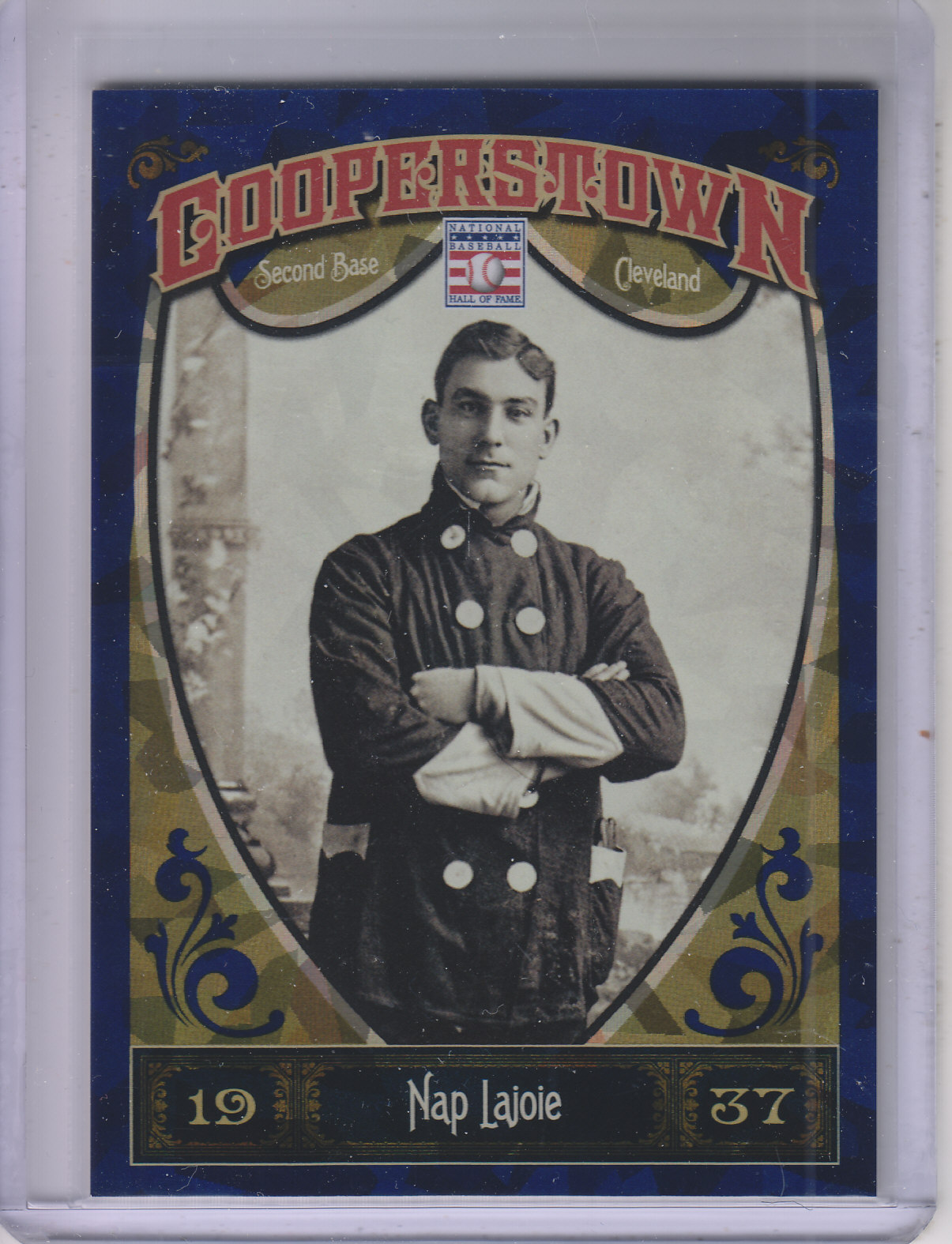 2013 Panini Cooperstown Blue Crystal #19 Nap Lajoie