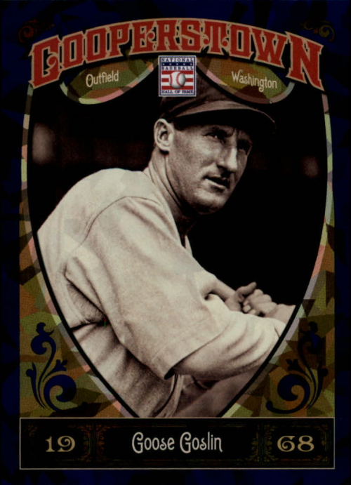 2013 Panini Cooperstown Blue Crystal #24 Goose Goslin