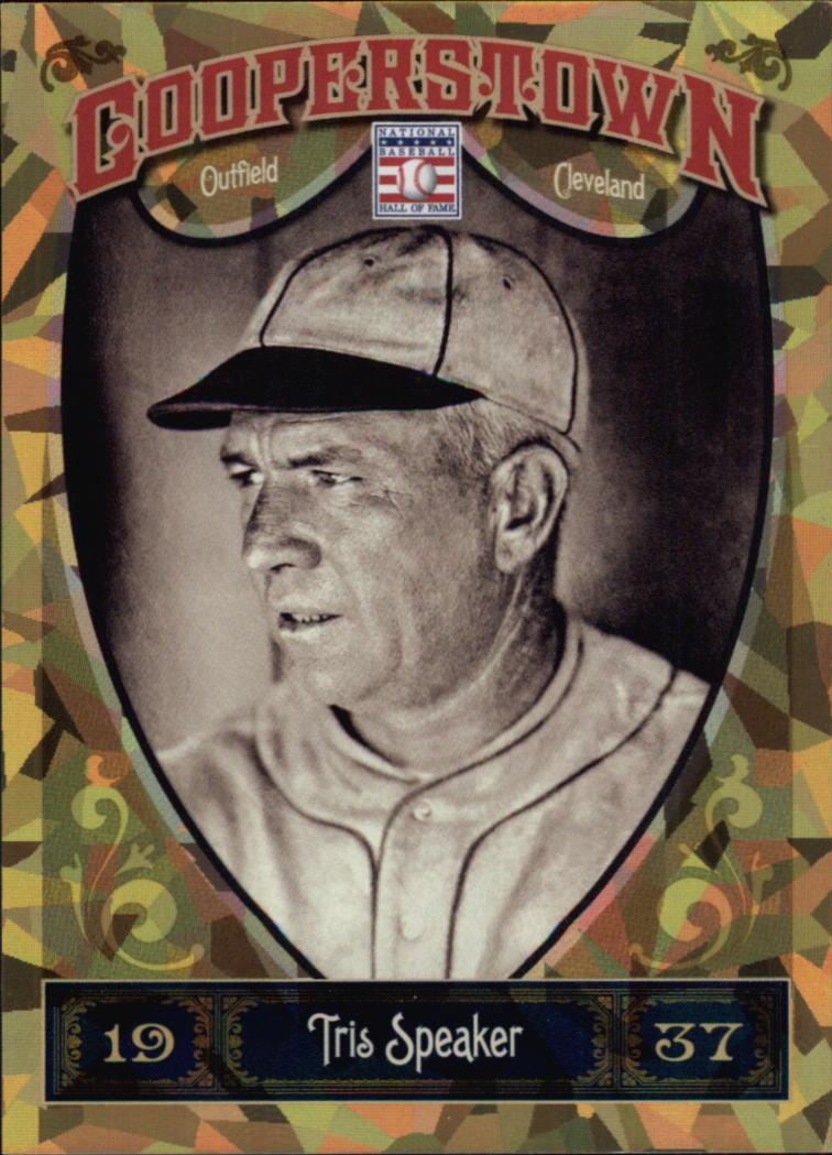2013 Panini Cooperstown Gold Crystal #3 Tris Speaker