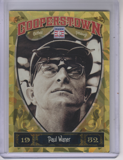 2013 Panini Cooperstown Gold Crystal #27 Paul Waner
