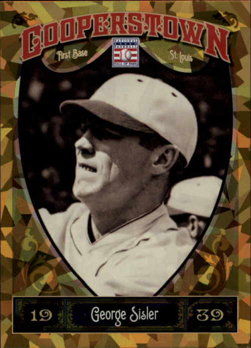 2013 Panini Cooperstown Gold Crystal #30 George Sisler