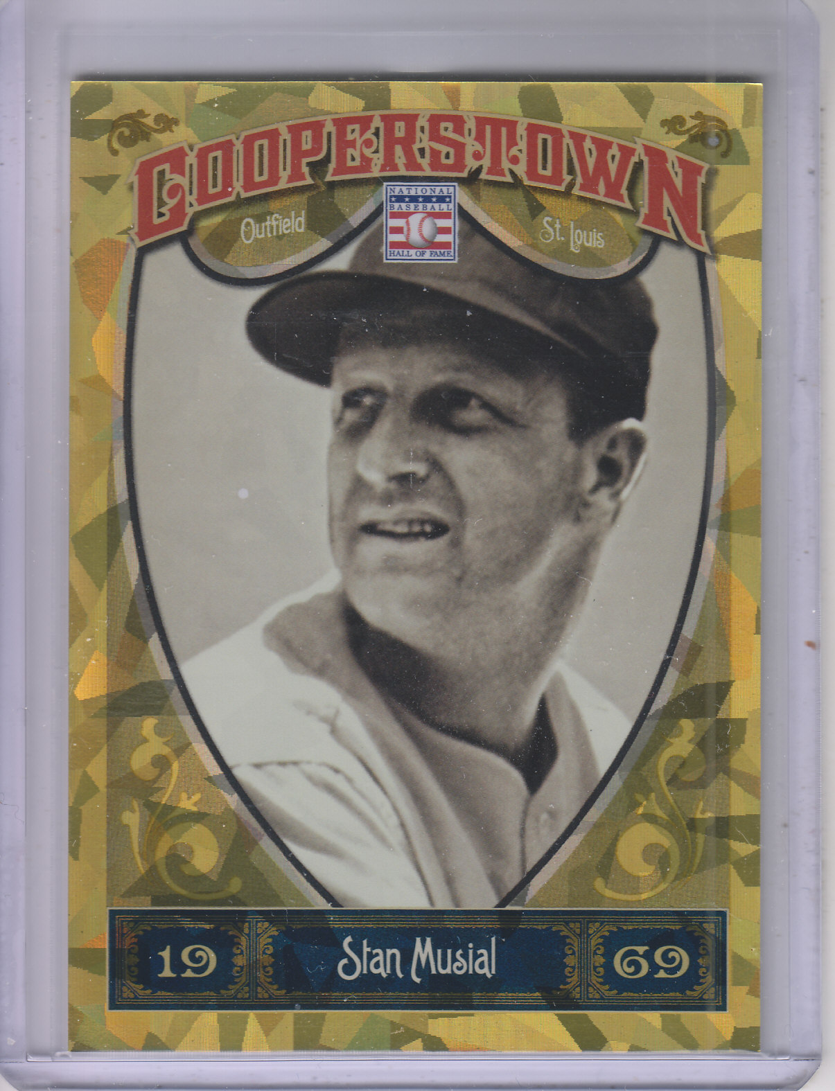 2013 Panini Cooperstown Gold Crystal #56 Stan Musial