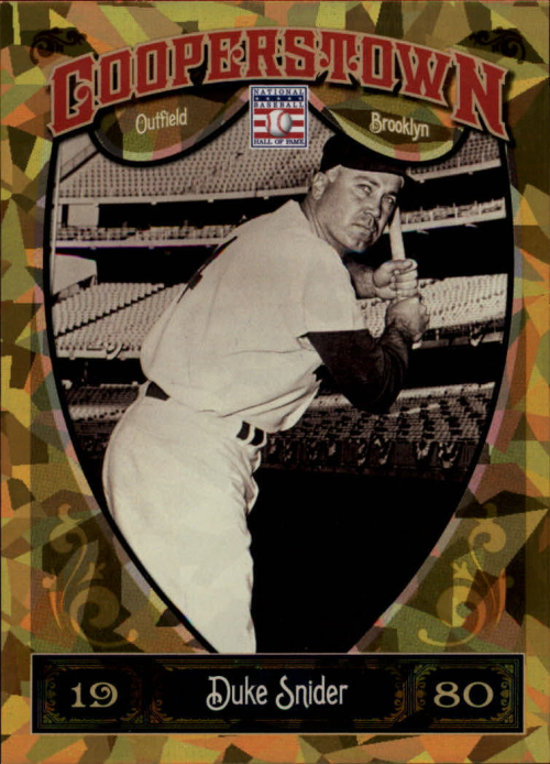 2013 Panini Cooperstown Gold Crystal #58 Duke Snider