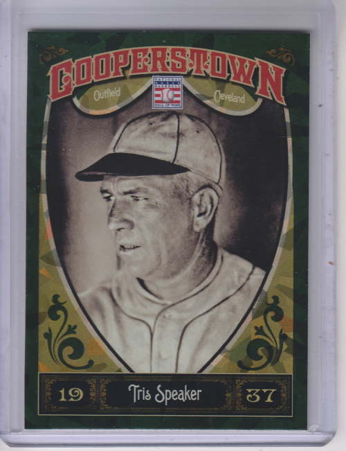 2013 Panini Cooperstown Green Crystal #3 Tris Speaker