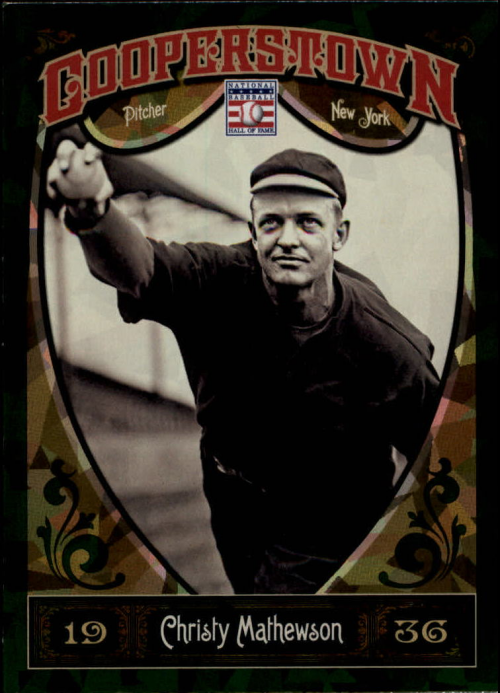2013 Panini Cooperstown Green Crystal #4 Christy Mathewson