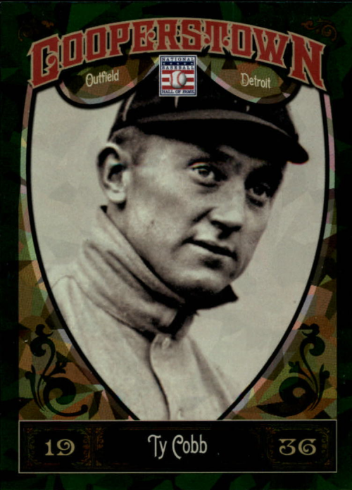 2013 Panini Cooperstown Green Crystal #5 Ty Cobb