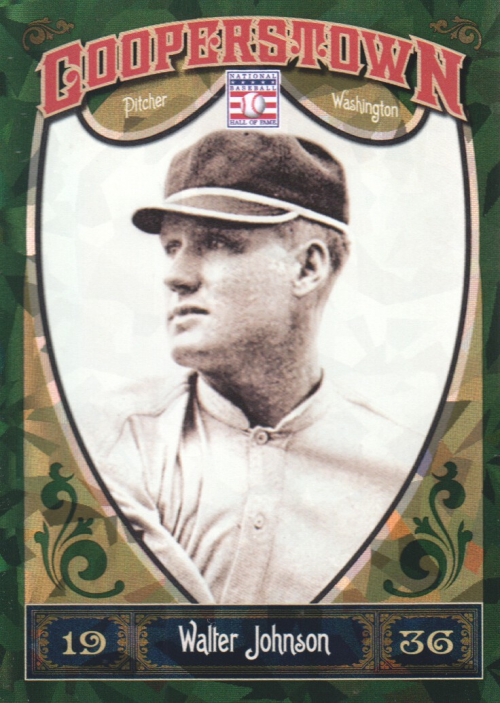 2013 Panini Cooperstown Green Crystal #7 Walter Johnson