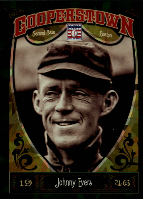 2013 Panini Cooperstown Green Crystal #9 Johnny Evers