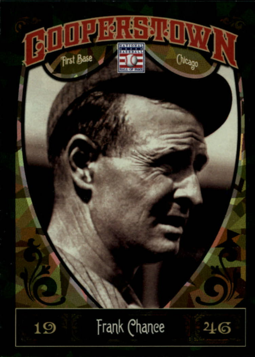 2013 Panini Cooperstown Green Crystal #10 Frank Chance