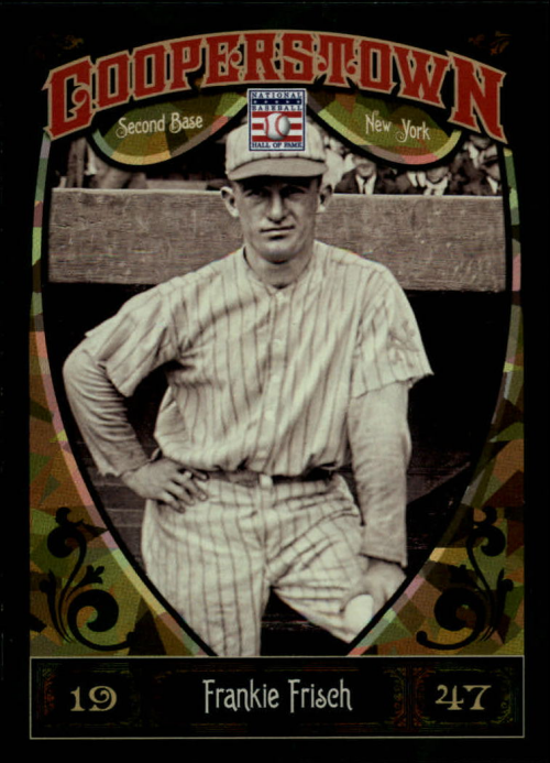 2013 Panini Cooperstown Green Crystal #15 Frankie Frisch